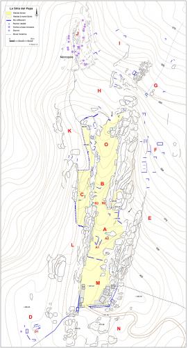 Fig. 1. Plan du site de la Silla del Papa.