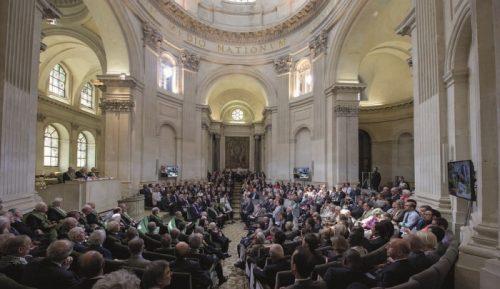 Fig. 4: Cérémonie de remise des Grands prix scientifiques sous la coupole de l'Institut de France, mercredi 3 juin 2015. © Didier Plowy - Institut de France.