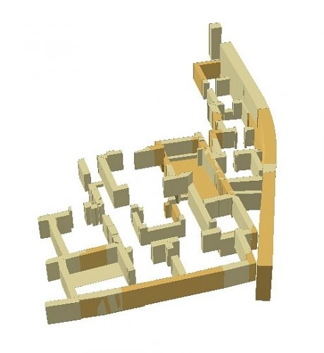Fig. 3. Ébauche de restitution 3D de l'Ensemble 1.