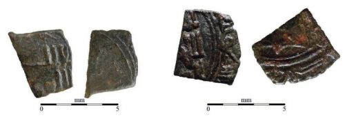 Fig. 3. Fragments de monnaies taifales.