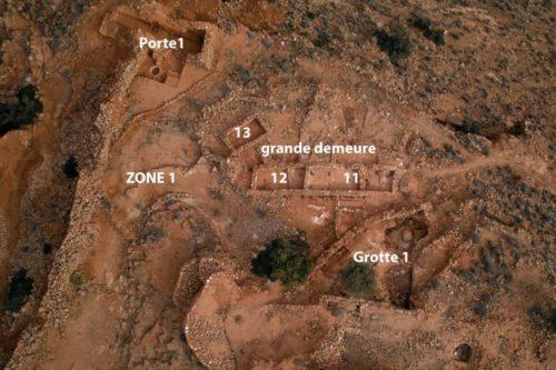 Fig. 1- Vue zénithale de la Zone 1 sur l'acropole d'Igiliz.