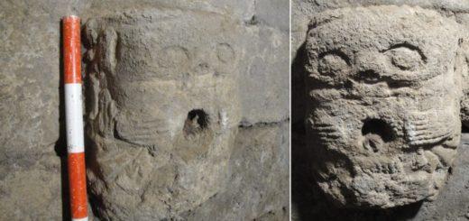 Fig. 3 - Vues de la tête sculptée.