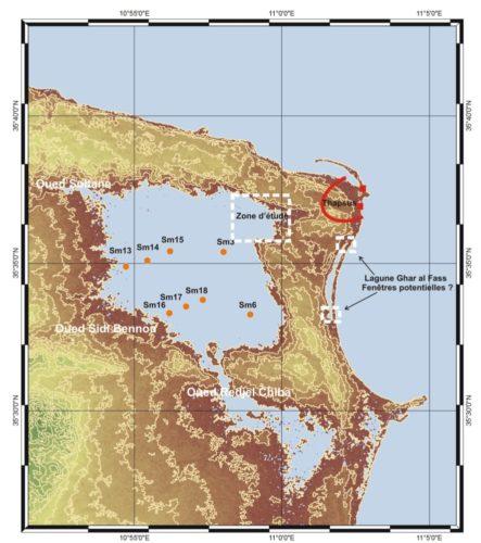 Fig. 4 - Localisation de la zone d'étude géomorphologique et des données antérieures (Chairi, 2005). Jean-Michel Carozza.